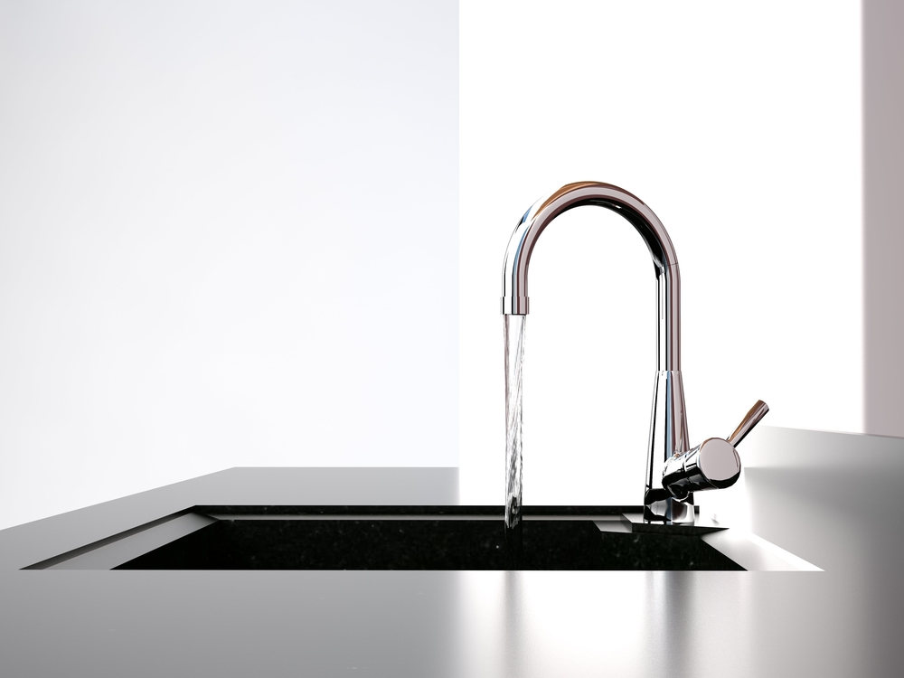 chrome or stainless steel kitchen faucet
