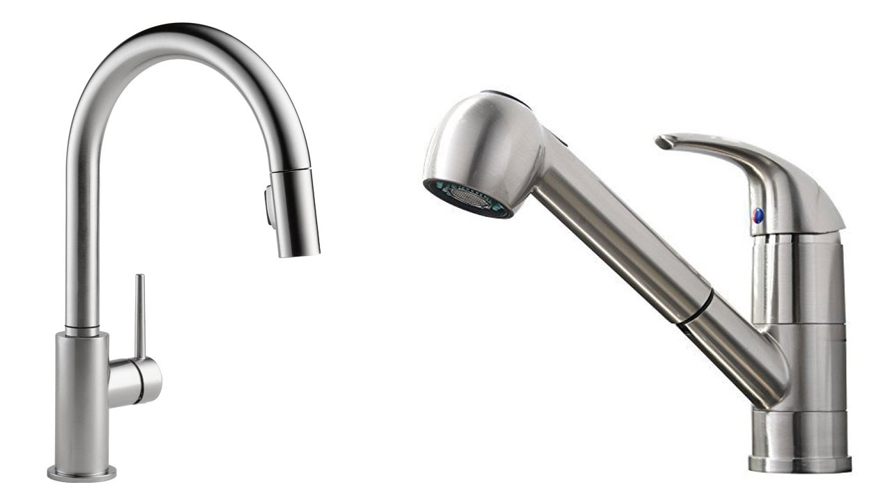 pull out vs pull down kitchen faucets